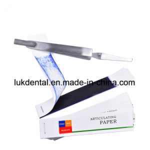 High Quality Disposable Dental Articulating/Occlusion Paper pictures & photos