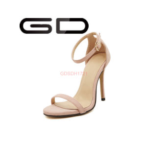 Fashion Young Girls High Heel Sandals Roman Style Shoes pictures & photos