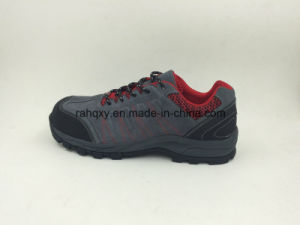Suede Leather Wear-Resisting Rubber Safety Shoes Outdoor Shoes (16067) pictures & photos