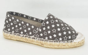 Kid′s Casual Canvas Espadrille Flat Shoes