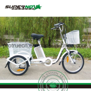3 Wheel Electric Bicycle with Rear Basket pictures & photos