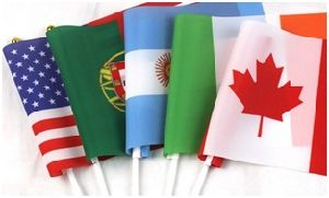 Custom No. 8 National Flags Waving Red Flag Promotions