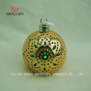Spherical Electroplated Ceramic Candle Stand, Porcelain Candle Candlestick/a pictures & photos