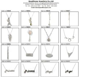 Key Pattern Design for Woman′s Necklace 925 Silver Fashion Jewelry (N6660) pictures & photos