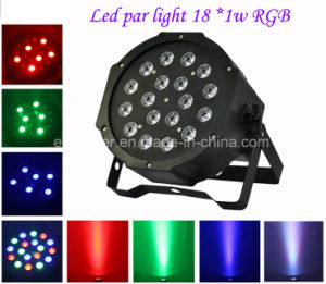 LED PAR Light 18 PCS*1W Stage Light RGB LED Flat PAR Light Wholesale pictures & photos