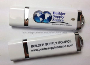 Rubber Coated USB Flash Drive with Large Print Area pictures & photos
