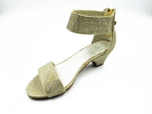 Golden Glitter Girls Summer Sandals