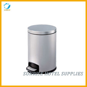 Hotel Round Shape Pedal Bin pictures & photos