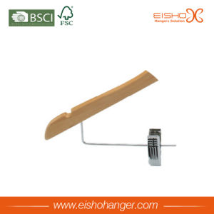 Simple Wooden Hanger for Clothes with Clips (WL8005) pictures & photos