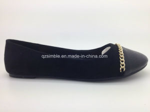 Fashion Black Women Shoes with Flat Heel pictures & photos