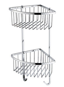 Brass Material Square Series Double Basket Bathroom Accessories pictures & photos