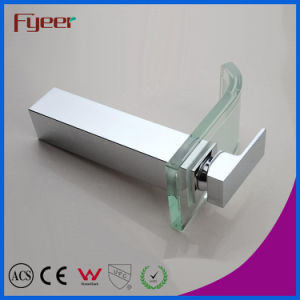 Fyeer High Body Chrome Plated Color Glass Square Spout Single Handle Bathroom Wash Basin Brass Faucet Water Mixer Tap Wasserhahn pictures & photos