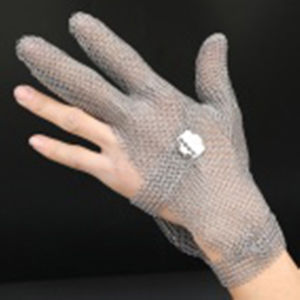 3 Finger Chain Mail Protective Anti-Cut Work Glove-2381 pictures & photos