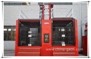 2t*2 High Speed Double Cage Construction Hoist Sc200/200 pictures & photos