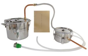 New 10L/3gal Copper Distiller for Essential Aromatic Oil Moonshine Stills with Water Pump pictures & photos
