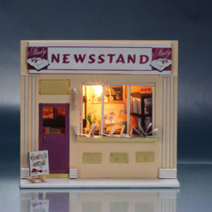 Lovely Small Wooden Toy DIY Doll House with Furniture pictures & photos