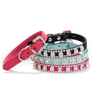Suede Diamond Pet Collar Dog Products Characteristics pictures & photos