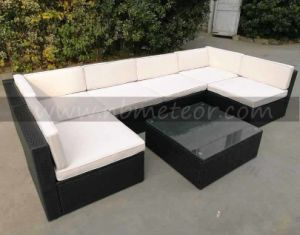 Outdoor Kd Sectional Furniture PE Wicker Rattan Sofa Set Deck Couch pictures & photos