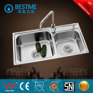 Modern Stainless Steel Kitchen Sink From China (BS-8002) pictures & photos
