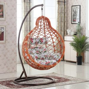 Garden Furniture Hanging Chair Wicker Egg Chair Outdoor Rattan Swing Chair (D028) pictures & photos