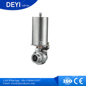 Tri Clamp Pneumatic Actuator Butterfly Valve with Controller C-Top pictures & photos