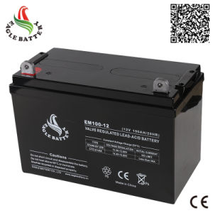 12V 100ah Mf Rechargeable Lead Acid Solar Power Battery pictures & photos