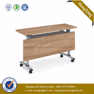 School Furniture Melamine Top Use Wood Folding Table (HX-5D193) pictures & photos
