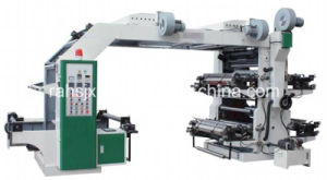 High Speed Synchronous Transmit Flexographic Printing Machine 4 Colors 1200mm pictures & photos