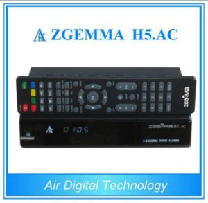 Digital TV Receiver H. 265/Hevc DVB-S2+ATSC Twin Tuners Zgemma H5. AC for Mexico/America pictures & photos
