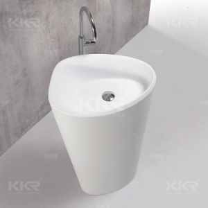 Pure White Acrylic Solid Surface Stone Above Counter Wash Basin pictures & photos