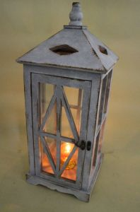 Vintage Wooden Lantern Grey Classical Style Lantern pictures & photos