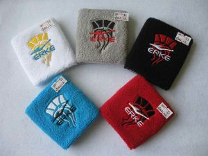 Embroidery Cotton Spandex Terry Sweat Sport Wristband pictures & photos