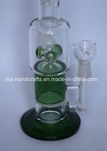 Green Swirl Honey Comb Percolator Glass Water Pipes Smoking Pipe Tobacco Pipes pictures & photos