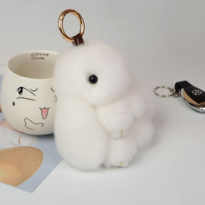Safety Plush Toy Stuffed Keychain White Rabbit pictures & photos