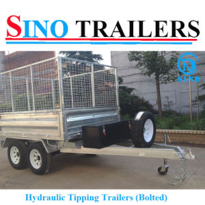10X6 FT Galvanised Hydraulic Box Trailer pictures & photos
