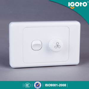 Igoto As329 Australian Standard Electrical One Gang Switch with Fan Speed Controller pictures & photos