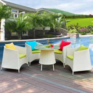 Garden Balcony Outdoor Furniture Rattan Sitting Room French Cafe Sofa Set pictures & photos