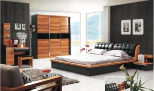 Simple Practrical Life Style Euro Fashion Solid Wood Bedroom Furniture pictures & photos