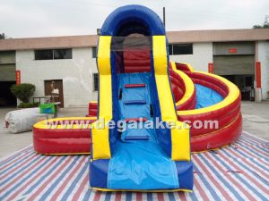 Inflatable Bridge and Tunnel Double Water Slide/ Inflatable Twin Water Slide for Kids pictures & photos