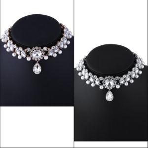 Fashion Luxury Diamond Rhinestone Pearl Pendant Choker Necklace Jewelry pictures & photos