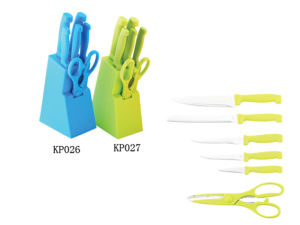 Plastic Handle Stainless Steel Knife Set pictures & photos