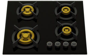Supreme 4 Brass Burner Gas Stove (8mm Glass) pictures & photos