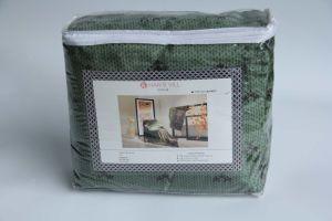 Flannel Fleece Blanket- (green&brown) pictures & photos