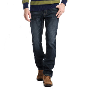 Mens Straight Blue Jean Pants Fashion Denim Jeans
