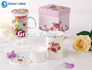 Promotional Bone China Coffee Mug with Custom Logo with Lid and Filter pictures & photos