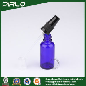 30ml Cobalt Glass Spray Bottles with Black Lotion Pump Sprayer pictures & photos