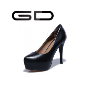 Platform High Heel Shoes Big Size Leather and PU Material Shoes pictures & photos