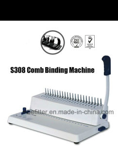 A4 size cheaper price Comb binding machine S-308 pictures & photos