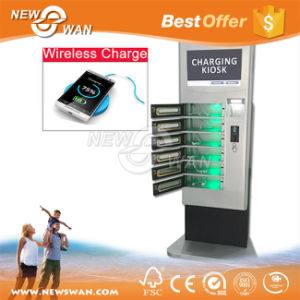 Coins / Bills Accepted Train Station Cell Phone Charging Tower Station with Deposit Locker pictures & photos