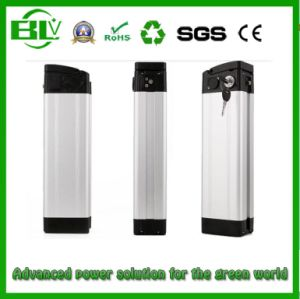Top E Bikes Battery 36V 15ah with Silver Fish Case 18650 Lithium Battery pictures & photos